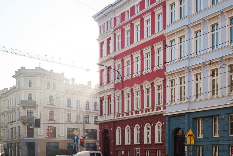 Zmodernizowane Kamienice przy ulicy Piłsudskiego we Wrocławiu