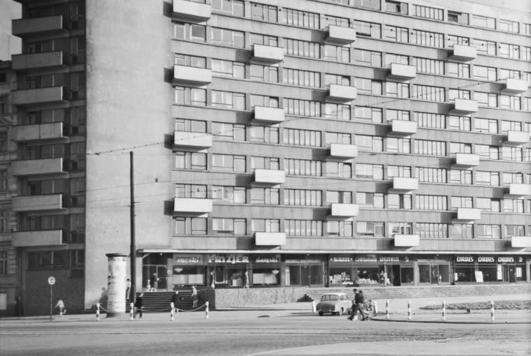 Dom Naukowca przy placu Grunwaldzkim, 1959-61, projekt 1956