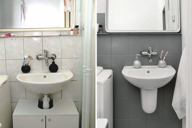 Metamorfoza łazienki - przed i po
