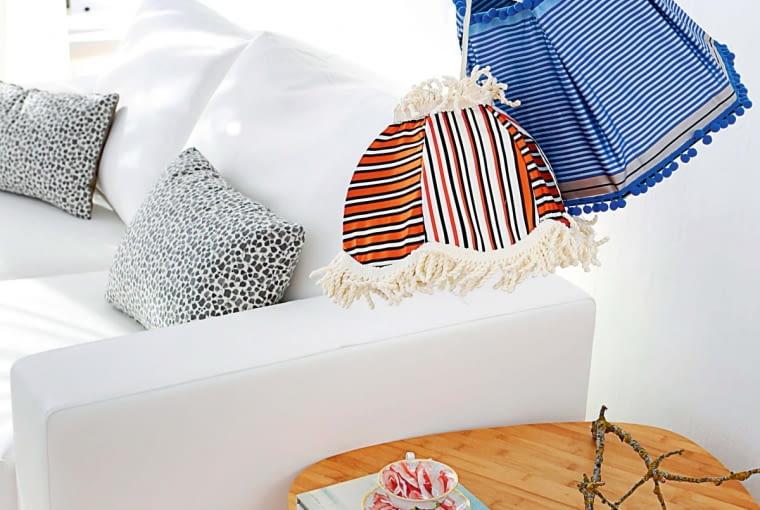 Sztuka domowa, czyli abażurki jakby uszyte z wzorzystych tkanin przez babcię. Styl retro jest ciągle na czasie!
