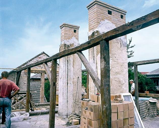 kominy, rozbudowa dachu, wymiana dachu, wymiana więźby dachowej, nadbudowa kominów