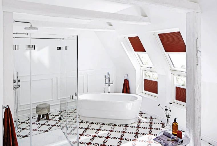 łazienka, wystrój wnętrz, kafelki, płytki podłogowe