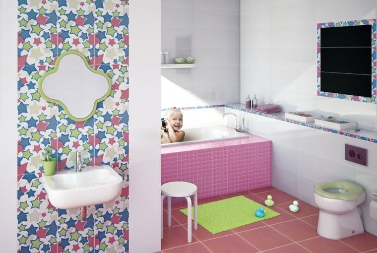 kolorowe płytki, płytki do łazienki