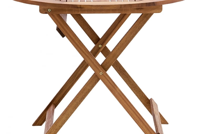 MALAGA, drewno, stół (śr. 74 cm) i 4 krzesła 598 zł/zestaw Castorama