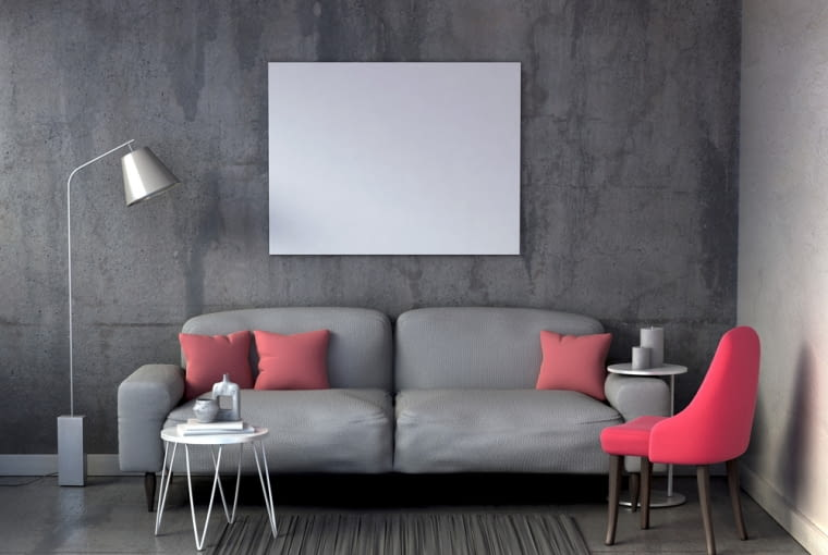 Szary kolor ścian, - z czym łączyć, jakie dodatki dobierać?