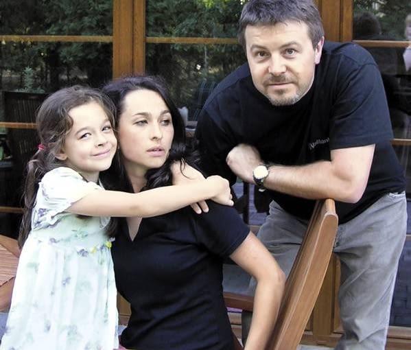 Właściciele domu - Małgorzata i Mariusz z córką