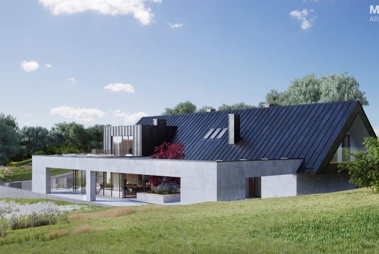 Dom w Kobylanach pod Krakowem. Proj. MEEKO Architekci (Tomasz Janiec i Kamila Fijałkowska-Janiec).