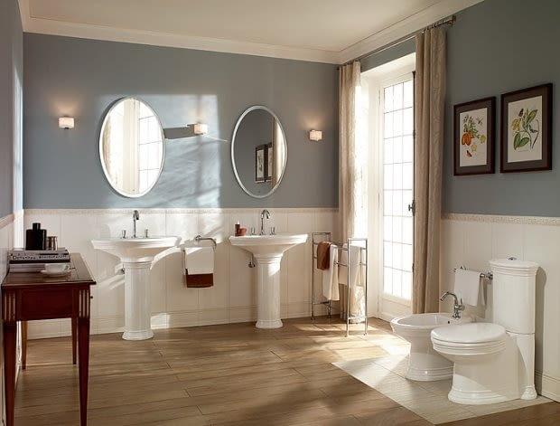 Łazienka w stylowych szarościach