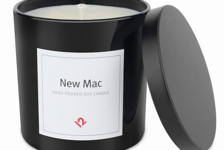 Świeczka o zapachu nowego MacBooka