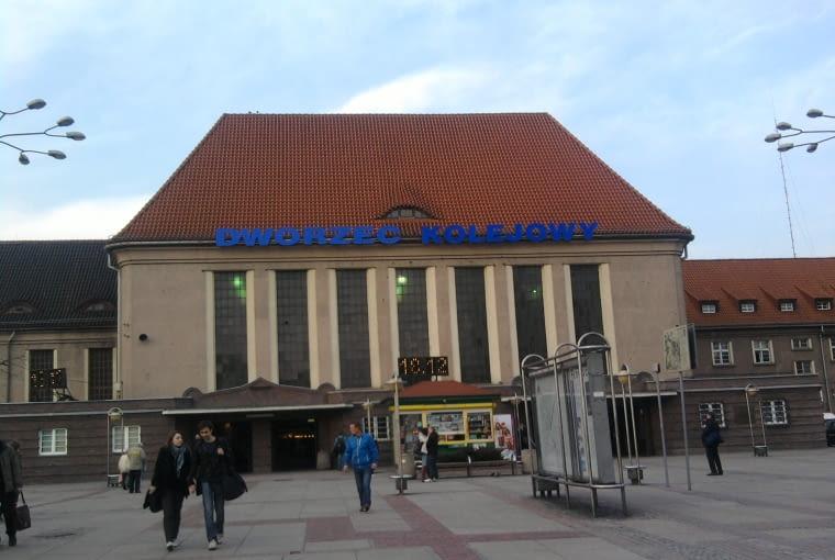 Dworzec w Gliwicach w 2012 r.