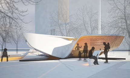 The Plein & Pavilion - wielki X od UN Studio