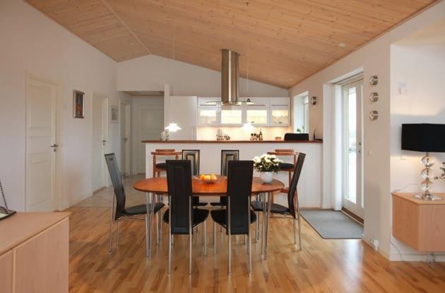 parter, dom jednorodzinny, jadalnia z kuchnią, kuchnia