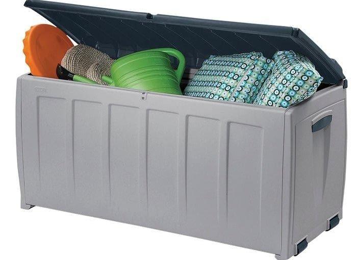 skrzynia na poduszki ogrodowe, skrzynia na narzędzia, przechowywanie