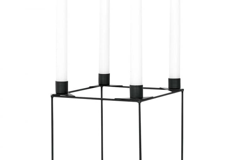W stylu tego wnętrza: Świecznik, szkło i metal, 49 zł, bonami.pl