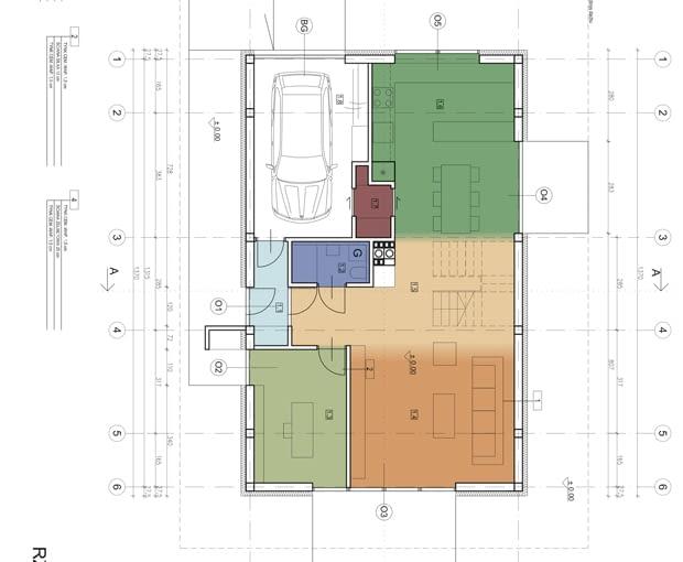 Dom Optymalny - rzut parteru, wersja z gabinetem