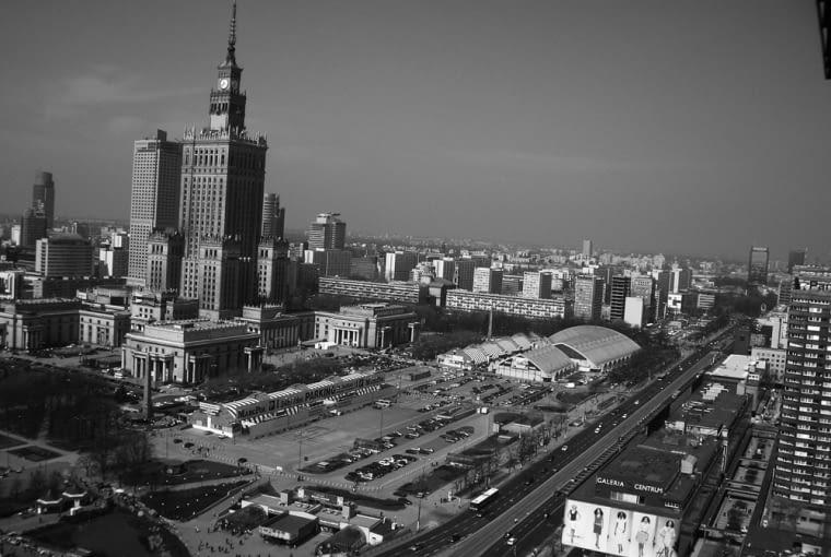 Centrum Warszawy jeszcze z halami KDT