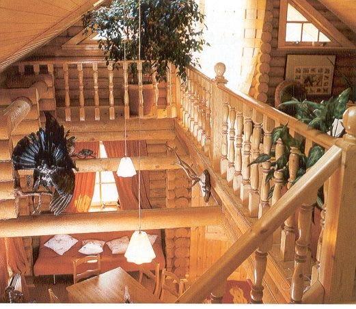 Dom z bali. Widok przykładowego wnętrza