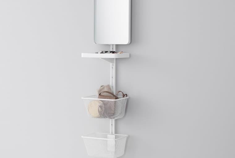 Szyna ścienna z lustrem i półką, Algot, IKEA, cena: 107 zł
