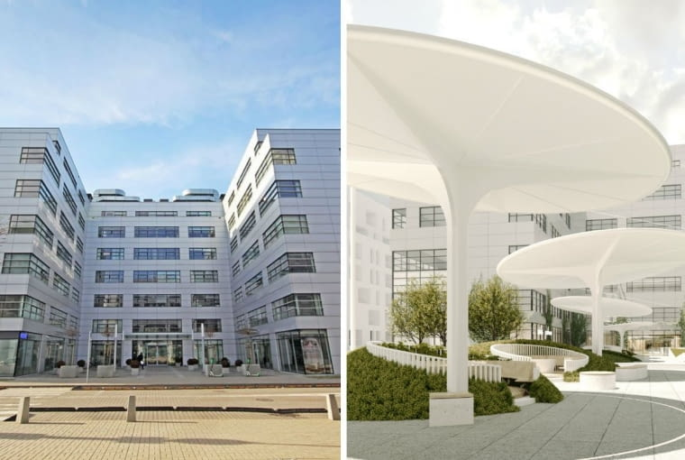 Biurowce przy ul. Cybernetyki 7 w Warszawie będą modernizowane