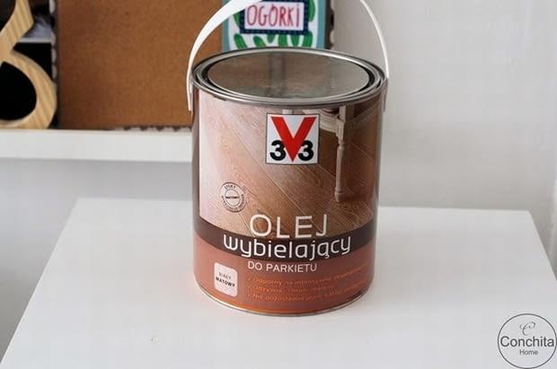 Olej wybielający do parkietu, malowanie podłogi