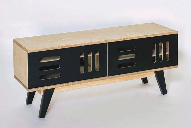 Szafka RTV HUH, drewno, 120 x 50 cm, wys. 50 cm, cena: 1649 zł, bonami.pl