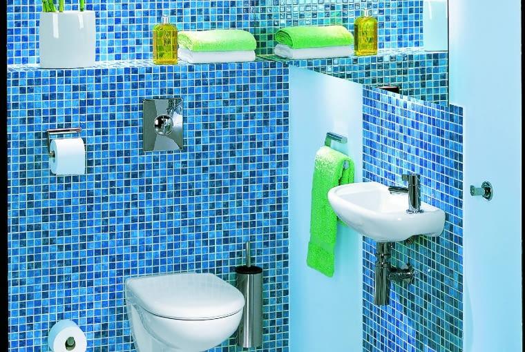 ZADBAJ o SPÓJNOŚĆ - do toalety, podobnie jak do łazienki, warto wybrać urządzenia z tej samej serii wzorniczej. NOVA TOP PICO, sedes podwieszany, 50 x 35,5 cm 434 zł, umywalka, 45 x 25 cm 168,50 zł Koło
