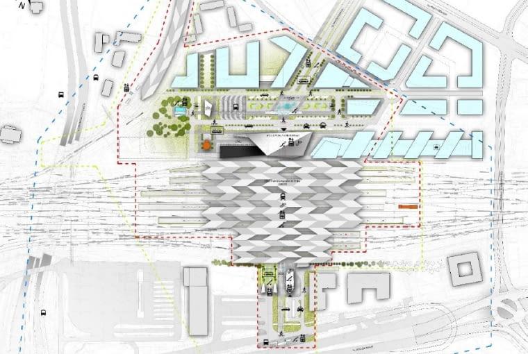 Koncepcja przestrzenna przebudowy stacji Warszawa Zachodnia