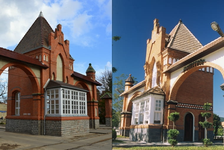 Brama główna Portu w Szczecinie oraz jej kopia w Brazylii