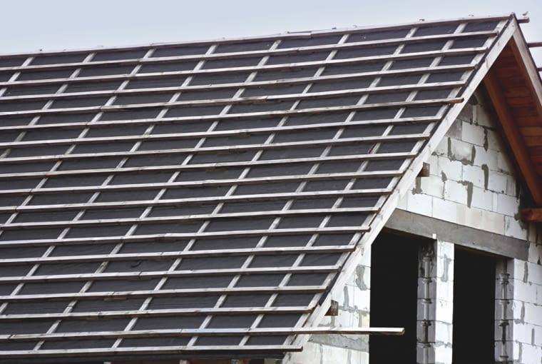 sztywne pokrycie, wstępne krycie dachu