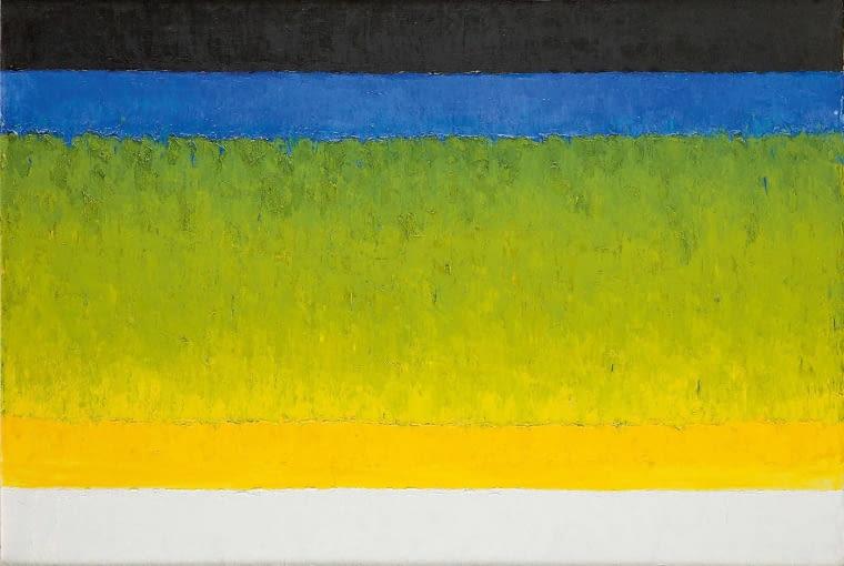 Stefan Gierowski, Obraz DCXLXX, 102 x 147 cm, olej na płótnie, cena wywoławcza: 80 000 zł
