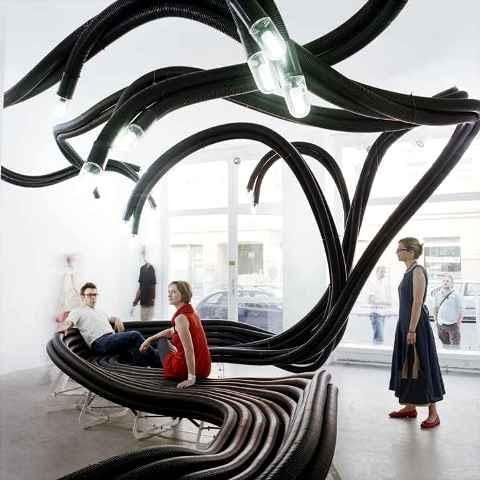 belgia, centrum handlowe, galeria, lofty, design, mała bryła