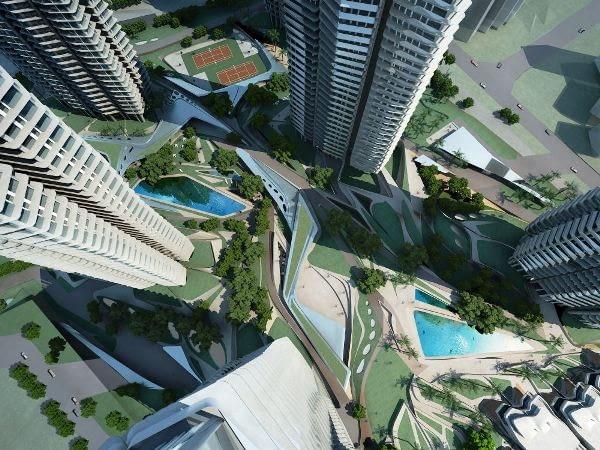 Farrer Court ogromne założenie osiedla mieszkalnego w Singapurze autorstwa pracowni Zaha Hadid Architects