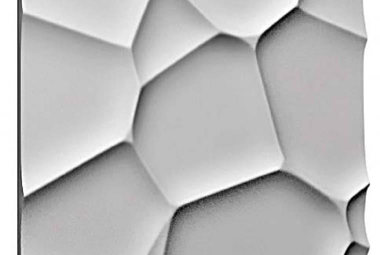 Terra/ZDESIGN. Sprawiają wrażenie spękanej od słońca ziemi lub pajęczyny; z kompozytu na bazie gipsu; 60 x 60 cm. Cena: 68 zł (szt.), www.zdesign.pl