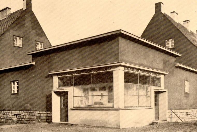 Kiosk, ul. Karmelkowa, Wrocław, pro. Ernst May