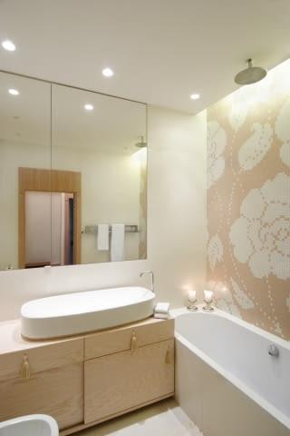 Wnętrza apartamentu - łazienka