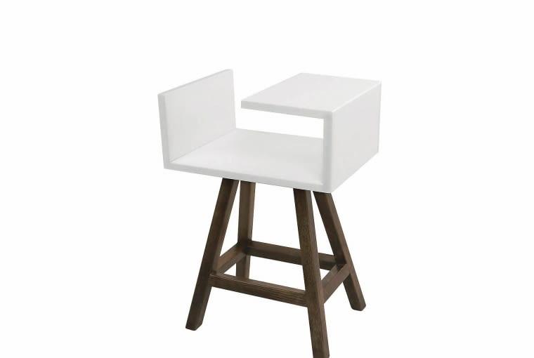 stolik drewniany, wys. 59 cm, dawanda.pl, dodatki do szarych wnętrz