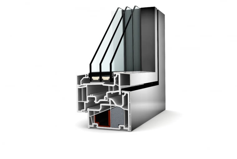 Propozycja 1. System: KF 410 - okna PVC-aluminiowe, profil klasy A o głębokości 93 mm; Uf = 0,92 W/(m2K) Pakiet szybowy: dwukomorowy; Ug = 0,5 W/(m2K), g = 54%; Uw = 0,72 W/(m2K) Cena: 27 772 zł