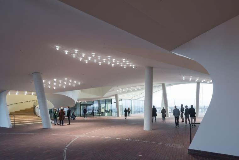 Taras widokowy w budynku filharmonii hamburskiej