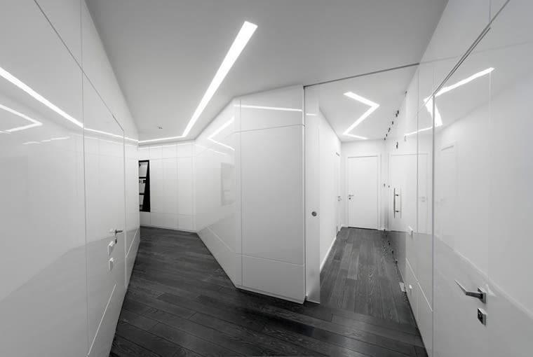 Futurystyczny apartament w Moskwie