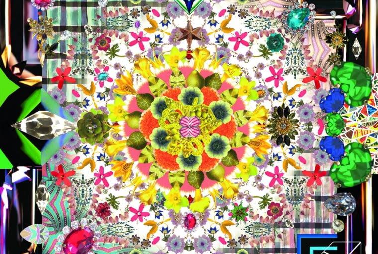 Od dyktatora mody. Dywan zaprojektowany przez Christiana Lacroix. Jewels Garden Moooi Carpets, moooicarpets.com