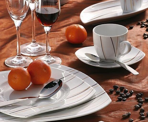 porcelana, komplet naczyń, serwisy