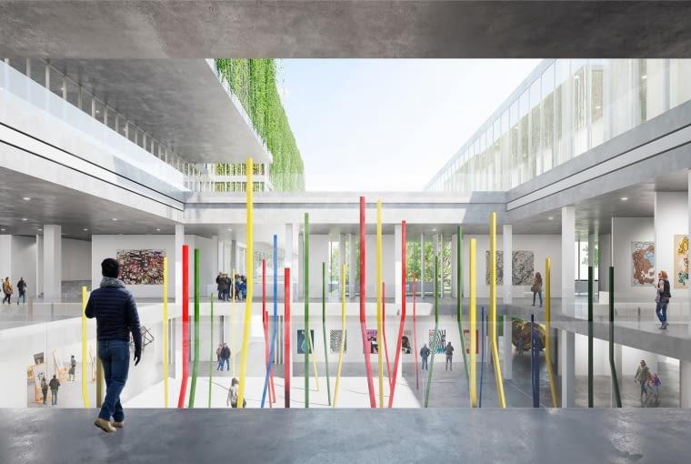 Koncepcja przebudowy Hotelu Cracovia na Muzeum Architektury i Designu, projekt: Alicja Nowak