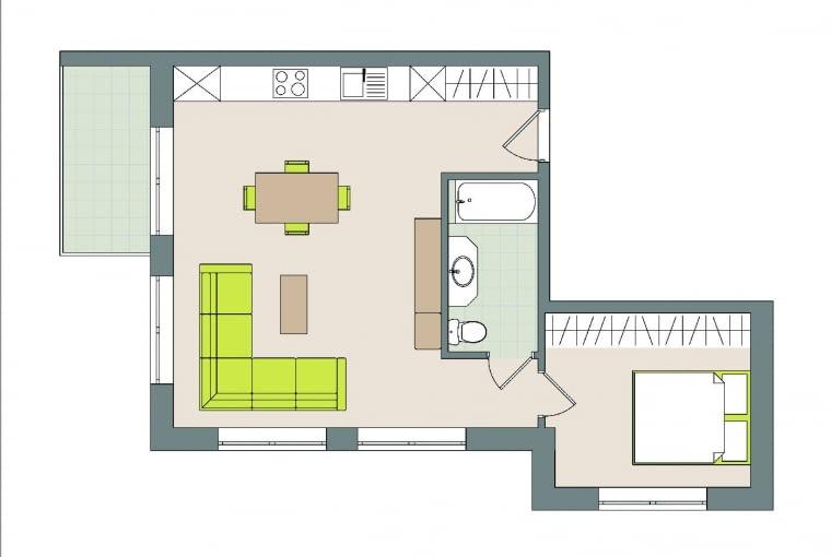 Mieszkanie 46 m kw. . W Łomiankach, 2 pokoje . Domownicy: Katarzyna i Przemysław z kotem Rysiem i psem Taurusem