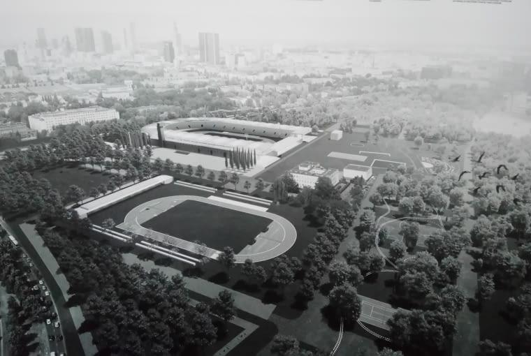 Praca konkursowa na zagospodarowanie terenu wokół nowego stadionu Skry