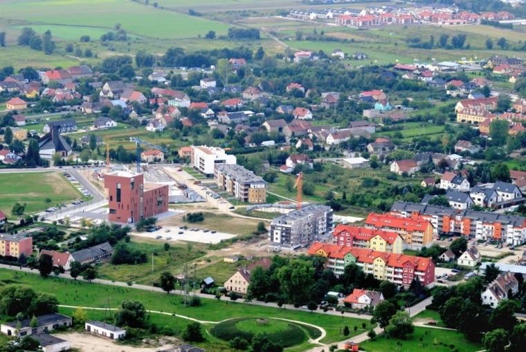 Budowane centrum Siechnic