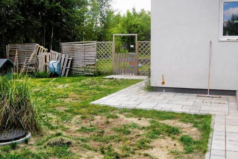 Tak było - ogród przed przebudową