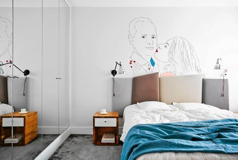 sypialnia, styl skandynawski, aranżacja wnętrz