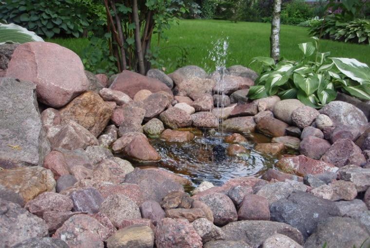 Prace konkursowe - niewielka sadzawka z fontanną