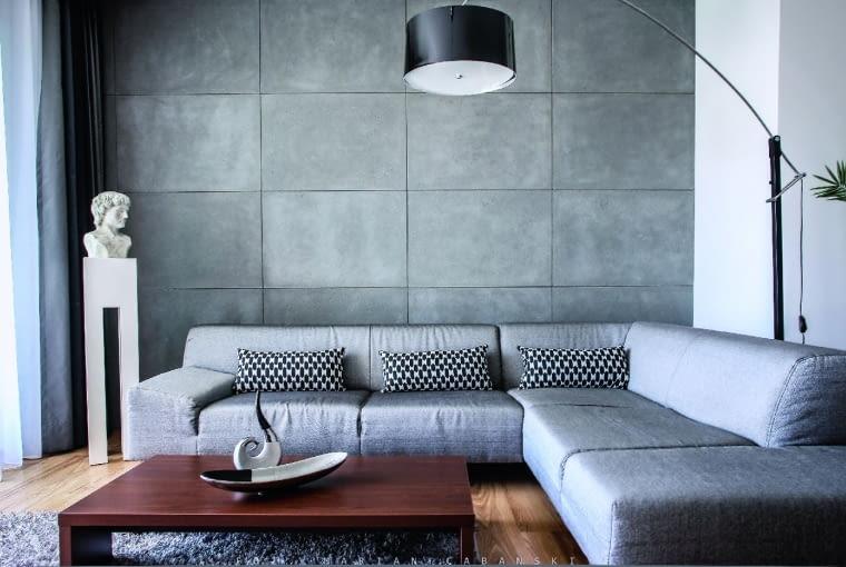 Jeśli wkręty, którymi można przytwierdzić płyty, wydają nam się nie-estetyczne, użyjmy zamiast nich kleju. PŁYTY betonowe, 60 x 120 cm, gr. 2 cm od 176 zł/m kw. Morgan & Möller