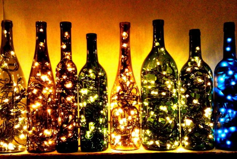 Dekoracje świąteczne z butelek po winie, ozdoba świąteczna, DIY, święta